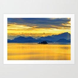 Full Of Golden Light Art Print