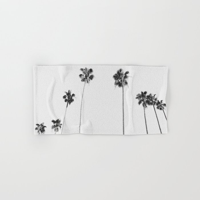 Black & White Palms Hand & Bath Towel
