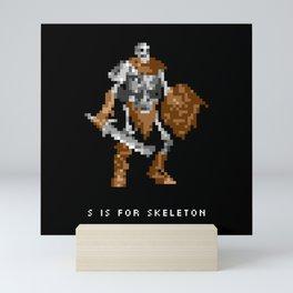 S is for Skeleton Mini Art Print