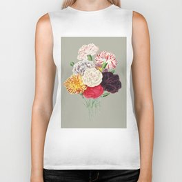 Colorful Flower Bouquet Biker Tank