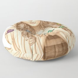 The Butterfly Girl Floor Pillow