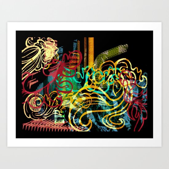 striking colourful-1 Art Print