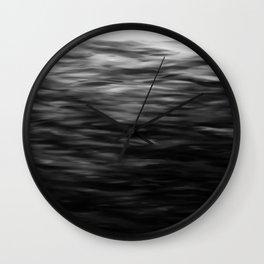 B&W Waves2 Wall Clock