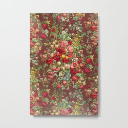Vintage Floral Chinz Pattern Metal Print
