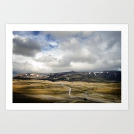 The Ghost Road of Iceland Art Print