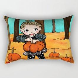 Pumpkin Picking Rectangular Pillow