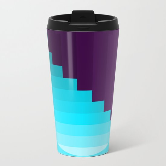 Ups and Down | Deep Within | Purple | Blue | Turquoise Metal Travel Mug