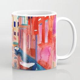 Venice Street with boats Coffee Mug