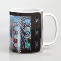 samsung Mugs featuring iPhone crashes Samsung by CrazyWorld