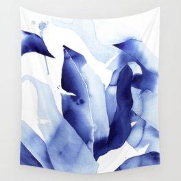 Royal Blue Palms no. 2 Wall Tapestry