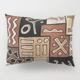 Brown and Black Abstract Mud Cloth Print Pillow Sham