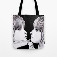 mirror Tote Bags featuring MIRROR by Dianah B