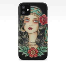 Gipsy tattoo iPhone Case