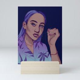neon thread Mini Art Print