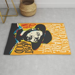 Clint Eastwood Pop Art Portrait Rug