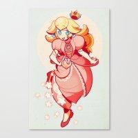 princess peach Canvas Prints featuring Princess Peach by Soojin P.