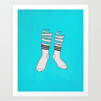 socks Art Prints featuring SOCKS by The Flying Fortress
