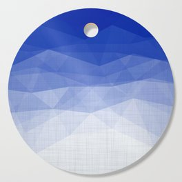 Imperial Lapis Lazuli - Triangles Minimalism Geometry Cutting Board