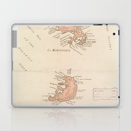 Vintage Map of St Lucia & Martinique (1781) Laptop & iPad Skin