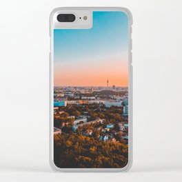 beautiful Berlin in the afternoon with tv-tower in the backgro Clear iPhone Case