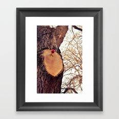arrow through the heart Framed Art Print