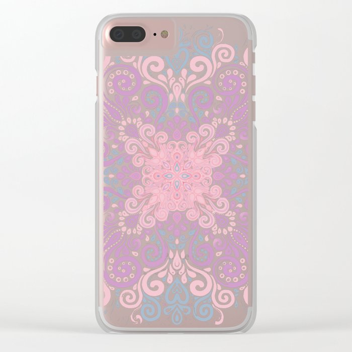 Watercolor Ornate Seamless Pattern Clear iPhone Case
