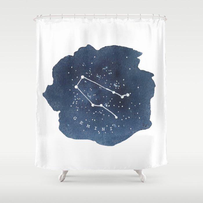 Gemini Constellation Zodiac Shower Curtain