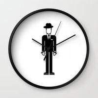 frank sinatra Wall Clocks featuring Frank Sinatra by Band Land