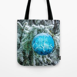 Christmas blue bauble Tote Bag