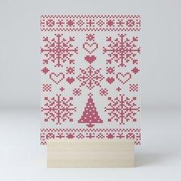 Christmas Cross Stitch Sampler Mini Art Print