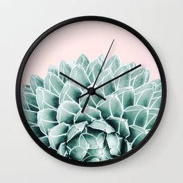 Succulent splendour - blush Wall Clock