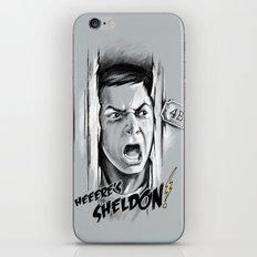 Heeere's Sheldon! iPhone & iPod Skin