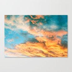 Blue Sunset Clouds  Canvas Print