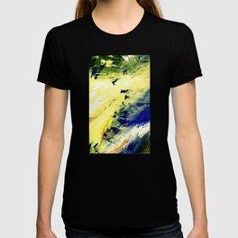 Abstract Yellow Dancer by Robert S. Lee T-shirt
