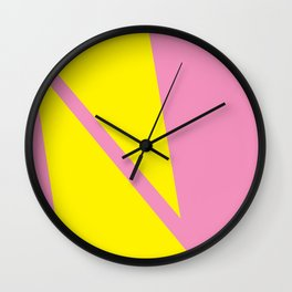 Pink Angles Wall Clock
