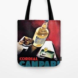 Vintage Campari Italian Cordial Advertisement Wall Art Tote Bag