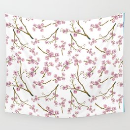 Sakura Cherry Blossoms Wall Tapestry