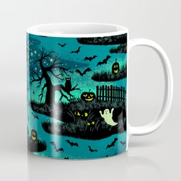 Halloween Night - Fox Fire Green Coffee Mug