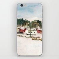 finland iPhone & iPod Skins featuring Finland village by Nadezhda Shoshina