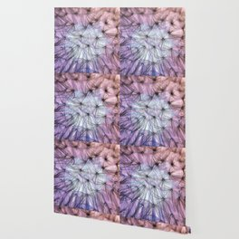 Through an Insect's Dreamy Eyes in Purple and Peach Wallpaper