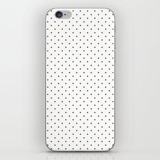 Black polka dots iPhone & iPod Skin