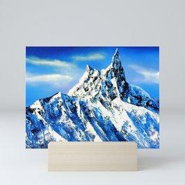 Panoramic View Of Everest Mountain Peak Mini Art Print