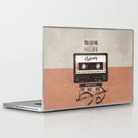 history Laptop & iPad Skins featuring History by Art of Nanas