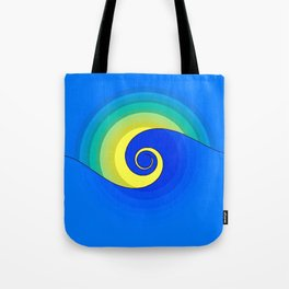 Wave in the Sunset Abstract Tote Bag