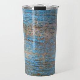 Blue Wood Grain Travel Mug