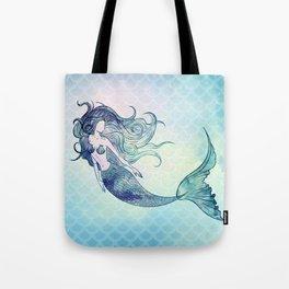 Watercolor Mermaid Tote Bag