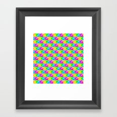 Rainbow Geodesic Framed Art Print