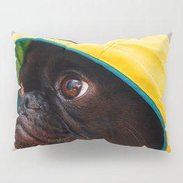 Cute Pug in Raincoat (Color) Pillow Sham
