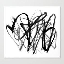 modern scribble Canvas Print