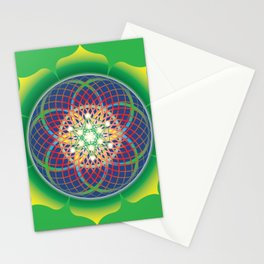 Metatrons cube flower of life mandala Stationery Cards